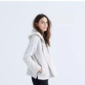 Madewell textured hooded sweater jacket